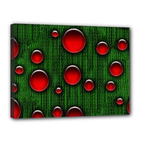 Geek Binary Digital Christmas Canvas 16  X 12  (framed)