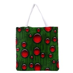 Geek Binary Digital Christmas Grocery Tote Bag