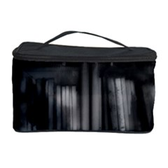 Black White Book Shelves Cosmetic Storage Case