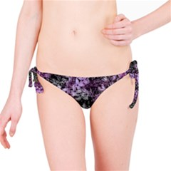 Lilacs Fade to Black and White Bikini Bottom