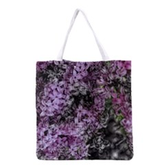 Lilacs Fade To Black And White Grocery Tote Bag
