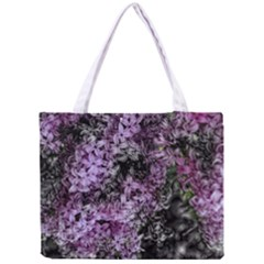 Lilacs Fade to Black and White Tiny Tote Bag