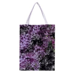 Lilacs Fade to Black and White Classic Tote Bag