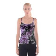 Lilacs Fade To Black And White Spaghetti Strap Top