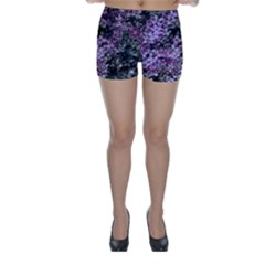 Lilacs Fade to Black and White Skinny Shorts