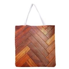 Wood11 Grocery Tote Bag