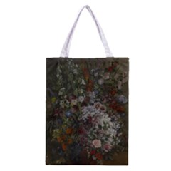 Courbet Bouquet Of Flowers In Vase Classic Tote Bag