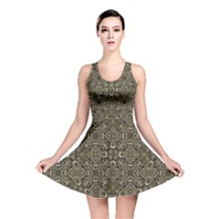 Steam Punk Pattern Reversible Skater Dress