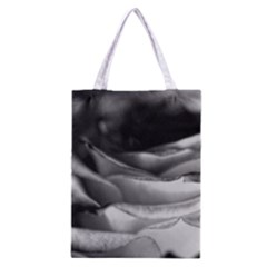 Light Black and White Rose Classic Tote Bag