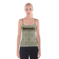 Silver Intricate Arabesque Pattern Spaghetti Strap Top