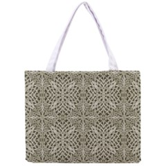 Silver Intricate Arabesque Pattern Tiny Tote Bag
