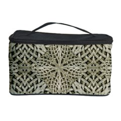 Silver Intricate Arabesque Pattern Cosmetic Storage Case