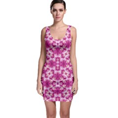Floral Print Pink Passionate Dreams  Bodycon Dress