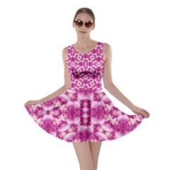 Floral Print Pink Passionate Dreams  Skater Dress