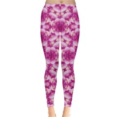 Floral Print Pink Passionate Dreams  Leggings