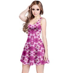 Floral Print Pink Passionate Dreams  Sleeveless Dress