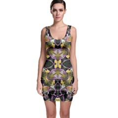 Geometric Grunge Pattern Print Bodycon Dress