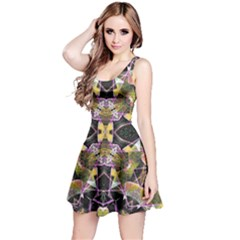 Geometric Grunge Pattern Print Sleeveless Dress