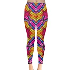 Multicolored Abstract Print Leggings
