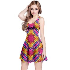 Multicolored Abstract Print Sleeveless Dress