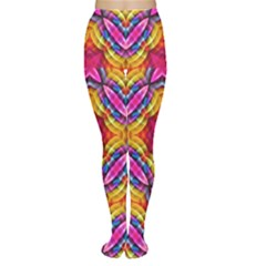 Multicolored Abstract Print Tights