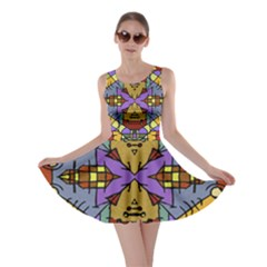 Multicolored Tribal Print Skater Dress