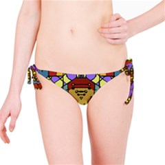 Multicolored Tribal Print Bikini Bottom
