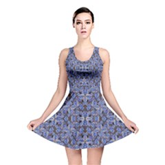 Floral Print in Navy Tones Reversible Skater Dress