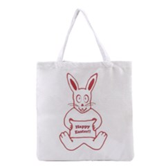 Cute Bunny Happy Easter Drawing i Grocery Tote Bag