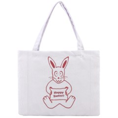 Cute Bunny Happy Easter Drawing i Tiny Tote Bag