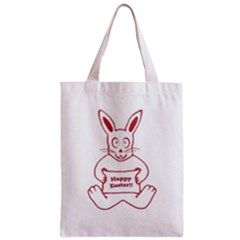 Cute Bunny Happy Easter Drawing i Classic Tote Bag