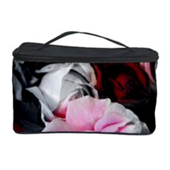 Black And White Roses Cosmetic Storage Case