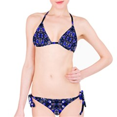 Decorative Retro Floral Print Bikini