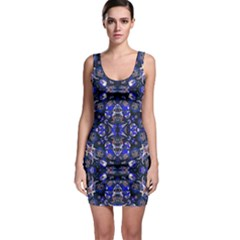 Decorative Retro Floral Print Bodycon Dress