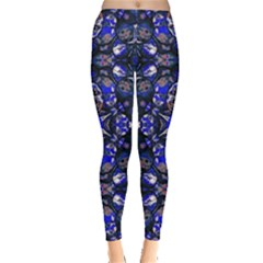 Decorative Retro Floral Print Leggings