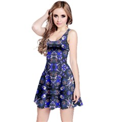 Decorative Retro Floral Print Sleeveless Dress