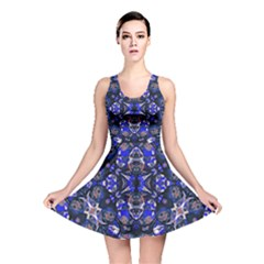 Decorative Retro Floral Print Reversible Skater Dress