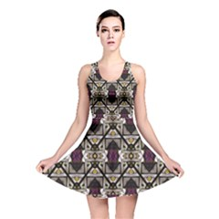 Abstract Geometric Modern Seamless Pattern Reversible Skater Dress