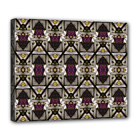 Abstract Geometric Modern Seamless Pattern Deluxe Canvas 24  X 20  (framed)