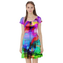 Tim Henderson Dolphins Short Sleeved Skater Dress