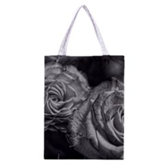Black And White Tea Roses Classic Tote Bag