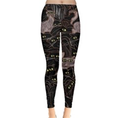 Black Cats Yellow Eyes Leggings