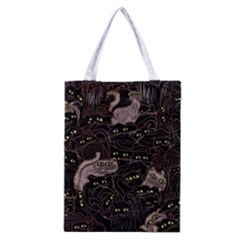 Black Cats Yellow Eyes Classic Tote Bag