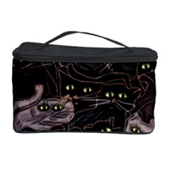 Black Cats Yellow Eyes Cosmetic Storage Case