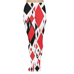 Distorted Diamonds In Black & Red Tights