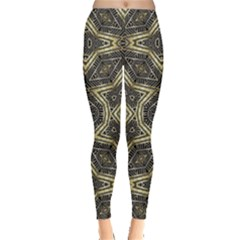 Geometric Tribal Golden Print Leggings