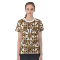 Chain Pattern Print Women s Cotton Tee