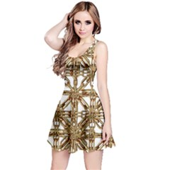 Chain Pattern Print Sleeveless Dress