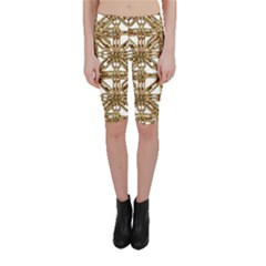 Chain Pattern Print Cropped Leggings