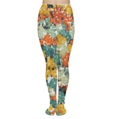 Paint strokes in retro colors Tights